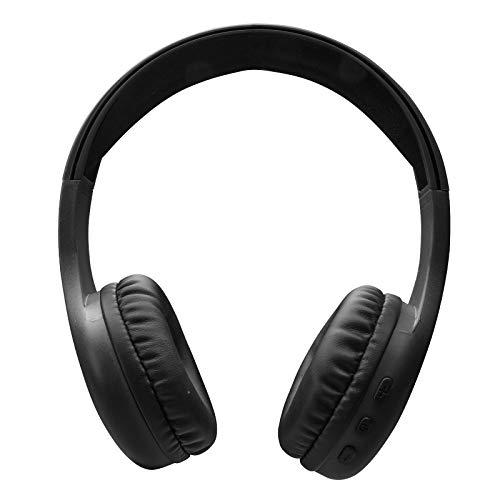 SBS Cuffie stereo regolabili con padiglioni morbidi e microfono integrato, wireless V5.0, tasti per chiamate e gestione musica, nero, Taglia unica