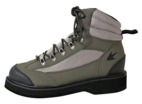 FROGG TOGGS Men's Hellbender Wading Shoe - Felt, Green / Silver /...