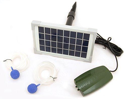 Oxbridge - ossigenatore per Stagno con Pompa - + 2 Pietre porose - ad energia Solare