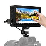 Desview R6 Touchscreen Monitor-DSLR-4k-Camara-Reflex 5.5 Pulgadas UHB 2800nits, Monitor de Campo 1920x1080 4K HDMI, Monitor Externo Compatible para Cámara Canon, Sony, Nikon, Panasonic etc