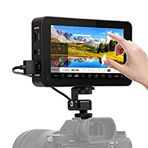 Camera Field Monitor, Desview R6 UHD 2800 nits 5.5 inch Touchscreen Monitor 1920x1080 4K HDMI with 3D LUT HDR Waveform Vectorscope for Mirrorless DSLR Camera Gimbal, Desview-Camera Field Monitor-DSLR