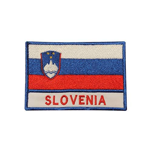 Aufnäher zum Aufbügeln oder Aufnähen, Motiv: Slowenien-Flagge, bestickt