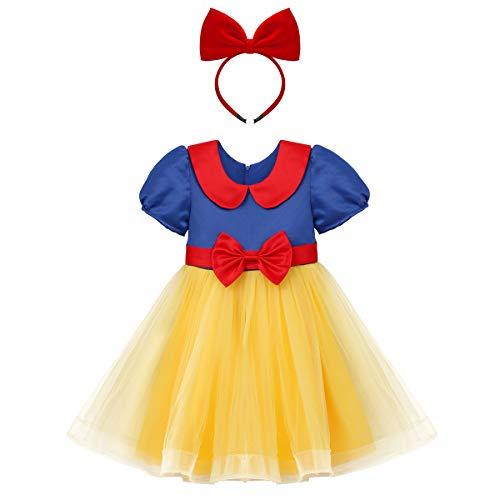 OBEEII Vestido de Princesa para Bebé Niña Disfraz de Infantil Vestido de Fiesta Carnaval Actuación Ceremonia Cosplay 2-3 Años