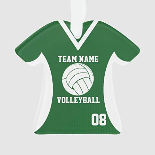 onepicebest Christmas Ornaments 2020 Volleyball Sports Jersey Green with Photo Ornament, Decorating Hanging Ornaments Christmas Party Decor Xmas Gift, T-Shirt Shape