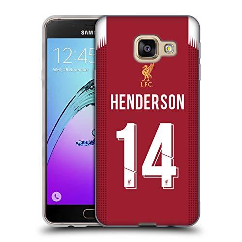 Ufficiale Liverpool Football Club Jordan Henderson 2019/20 Giocatori Home Kit Gruppo 1 Cover in Morbido Gel Compatibile con Samsung Galaxy A3 (2016)