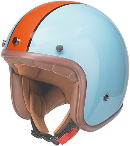 Kochmann Redbike Motorradhelm L blau orange braun RB 764 Motorrad Roller Helm