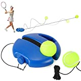Fostoy Tennis Trainer, Tennistrainer Set Trainer Baseboard mit 2 Rebound Ball, Selbststudium Übungs-Trainingswerkzeug Tennistrainingsausrüstung für Solotraining Erwachsener (Blau, 2Bälle)