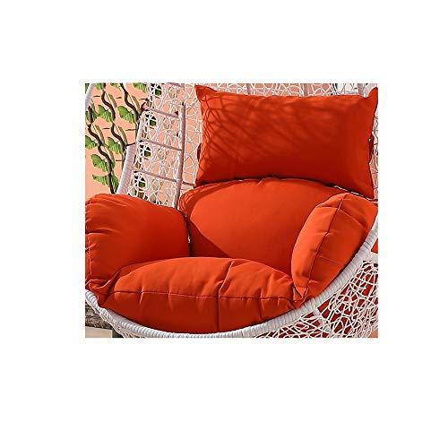 Hängende Ei Hängematte Stuhl Kissen,Hängesessel Swing,Für Indoor Outdoor Home Terrasse Deck Garten, Lesen Freizeit Anti-rutsch Seat Dämpfung (Color : Orange, Size : 65 * 56cm)