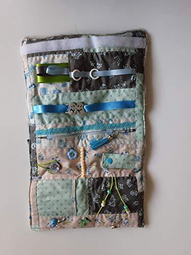 Convertible blue floral sensory/fidget quilt/muff for dementia sufferers