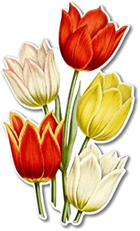 Tulips Car Vinyl Sticker SELECT SIZE