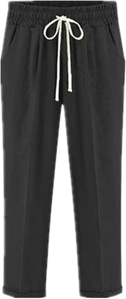 NP Harem Pants Summer Waist Cotton Plus Size Ankle Length Thin Casual Loose