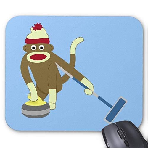 Gaming-Mauspad, Sock Monkey Olympic Curling Mauspad