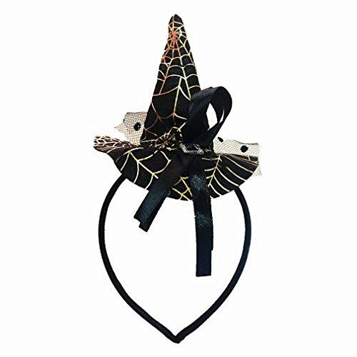 La Vogue Serre-Tête Headband Enfant Fille Petit Chapeau Sorcière Halloween Party Cosplay Or