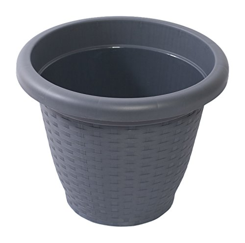 Hobby & Style 10140 Pot Rond Rattan, Anthracite, 25