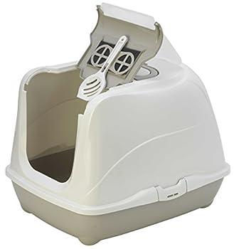 CATS FASHION Maison Toilette XL Grand Chat Gris/Taupe-BAC LITIERE XL pour Chat jusqu'À 8/9 KG