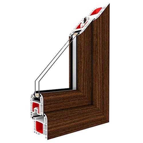 Festverglasung Fenster Mahagoni beidseitig 1 flg. Fest im Rahmen, Glas:3-Fach, BxH:1500x1200