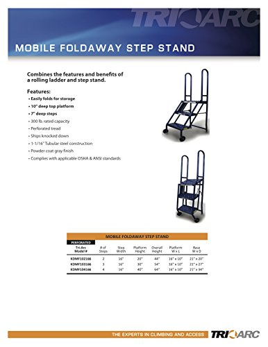 Tri-Arc KDMF104166 4-Step Mobile/Folding Steel Step Stand