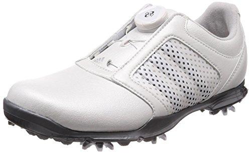adidas Donne Adipure Boa Golf Scarpe Trainers (UK 5.5 US 7 EU 38 2/3, White Metallic F33639)