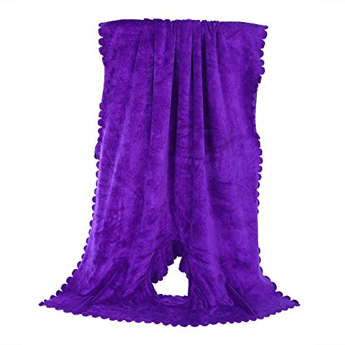 Massageliegenbezug, Massageliegen Bezug Laken mit Loch weiche, fusselfreie Handtuchdecke Schönheitssalon Massagetisch Betttuch mit durchbrochenem Design 31.5 X 74.8 inch(Weintraube Lila)