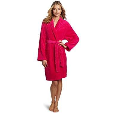Seven Apparel Hotel Spa Collection Herringbone Textured Plush Robe, Bright Fuschia Pink