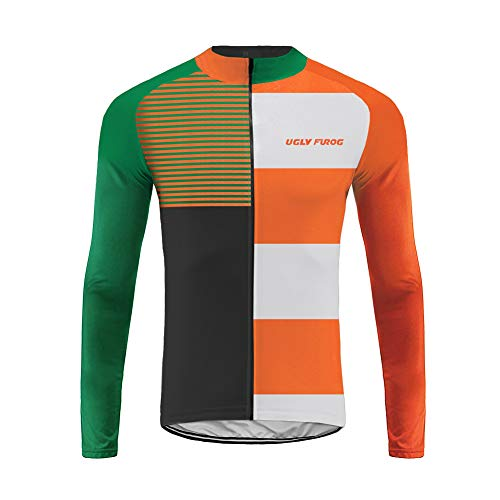 Uglyfrog Homme Automne Maillot Manches Longues Cyclisme vélo de Route Jersey Respirant Top T-Shirts Respirant VTT Maillot