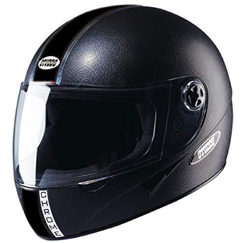 Studds Chrome Economy SUS_CEBFH_BLKL Full Face Helmet (Black, L)