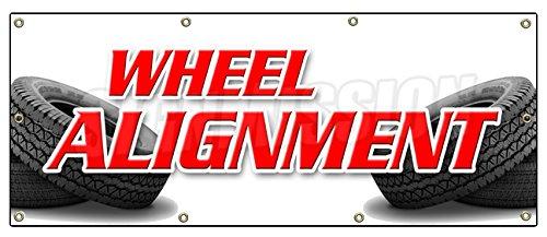 """36""""x96"""" Wheel Alignment Banner Sign tire fix Repair Align auto Repair"""