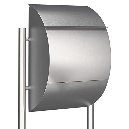 Standbriefkasten, Design Briefkasten Jumbo Edelstahl - Bravios