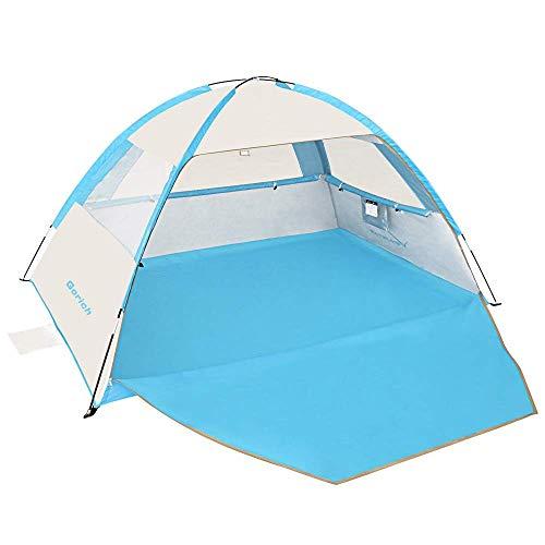 Gorich Tienda de campaña de playa, refugio solar UV, ligero, toldo para playa, cabana, para 3 – 4 personas