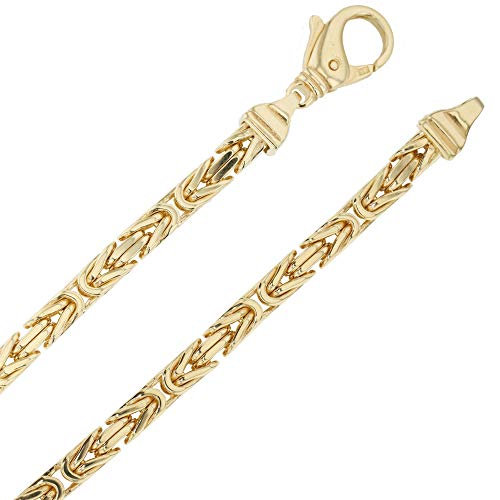 Echt 585 gouden koningsketting halsketting geelgoud herenketting gouden ketting 70 cm 4,00 mm massief K13
