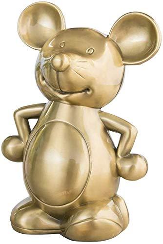 Creatieve grote Piggy Bank persoonlijkheid leuke verwennen muis Piggy Bank Zodiac kinderen geschenken maken een perfect uniek geschenk (kleur: messing, grootte: 12.8x8.5x18.5cm) No brand 12.8x8.5x18.5cm messing.