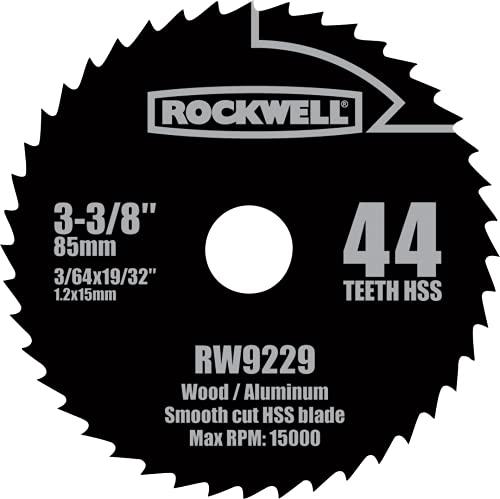Rockwell RW9229 VersaCut 3-3/8-inch 44T HSS Circular Saw Blade
