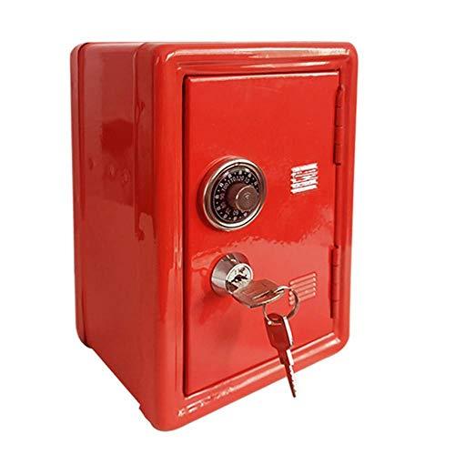 Alarmclocker8B Caja Fuerte para el hogar,Caja Fuerte Mini de Metal,Hucha Creativa,Caja Fuerte para Llaves-Blanco