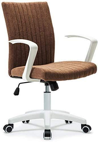 Elegante silla oficina, silla giratoria Silla de escritorio giratorio transpirable | Para la oficina en casa | Silla de salón de ajuste rotatorio | Sillas de escritorio de material de lino transpirabl