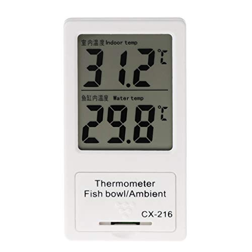 planuuik Affichage numérique d'affichage à Cristaux liquides de thermomètre d'aquarium de pour l'eau d'intérieur et de réservoir de Poissons comme Images montrées