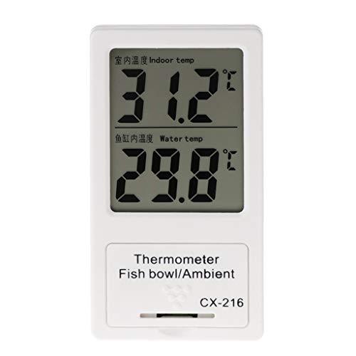 caralin Aquarium Thermometer LCD Display Digital Temperature for Indoor& Fish Tank Water Digital Gauges