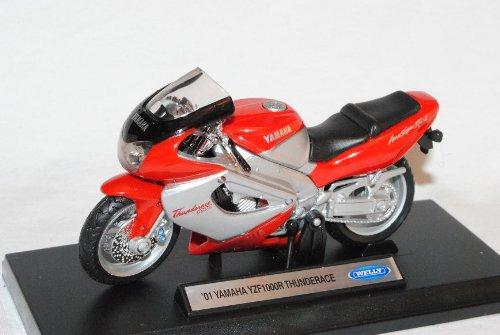Welly Yamaha Yzf1000r Thunderrace Yzf1000 YZF 1000 2001 R Rot Silber 1/18 Modellmotorrad Modell Motorrad