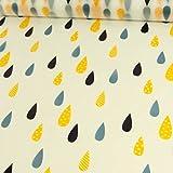 Stoffe Werning Regenjackenstoff Regentropfen
