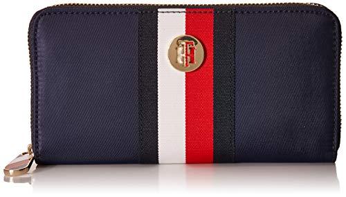 Tommy Hilfiger Damen Geldbörse Portemonnaies Poppy L Zip Blau AW0AW08364-0GY