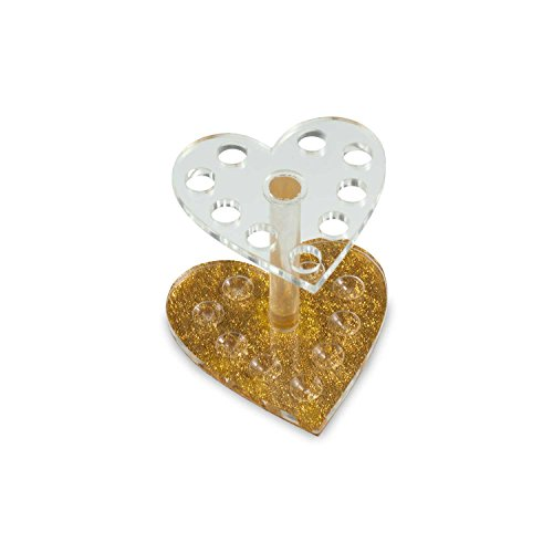 N&BF Pinselständer Herz-Form | Aufbewahrungs-Behälter für Nagelfeilen, Pinsel und Schminkpinsel | Hygienebox für Nailart und Nageldesign Werkzeuge | Arbeitsmaterial Halter