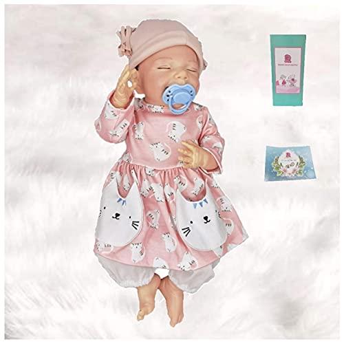 HZIXIXI Bambole Vere Reborn - 18Pollici Bambole Realistiche in Silicone - Bambole Reborn Femmine Piccole - Giocattoli per Bambini