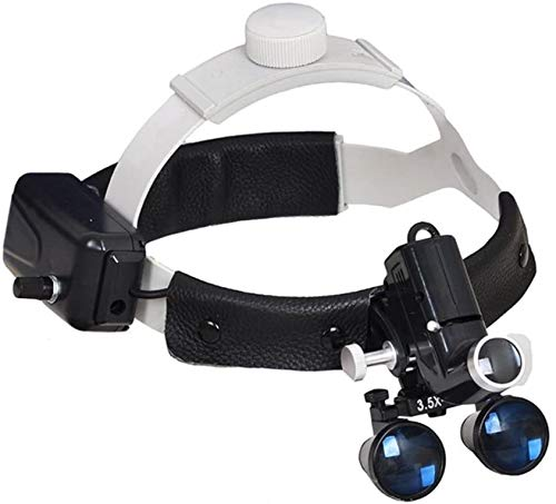 3.5X Magnification Profe~ssional Loupes with Adjustable 5W Headlight...