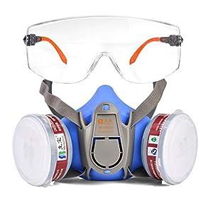 41z8uNRgwCL. SS300  - Gafas de seguridad Safeyear -SG009 Gafas de seguridad para protección de los ojos con lentes de plástico transparente y empuñaduras de goma para la nariz y las orejas para un ajuste cómodo