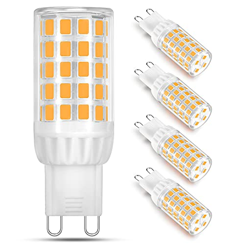 LED G9 Dimmbar Leuchtmittel 5W Ersatz für 40W Halogenlampe - Warmweiß 2700K Led glühbirnen - G9 Sockel Led Birne Lampe, 400LM,AC 220-240V, 4er Pack