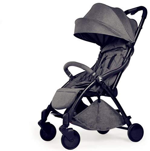 Plegable para Cochecito De Bebé Ligero con Carry Handle Travel (para 0-3 AñOs),Gray