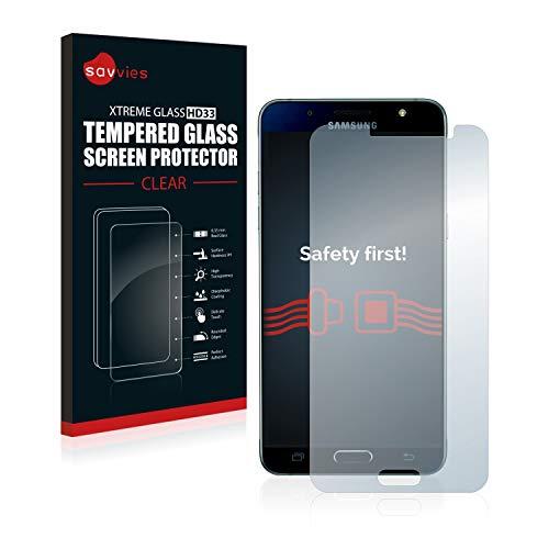 Savvies Panzerglas kompatibel mit Samsung Galaxy J5 2016 / Duos 2016 - Echt-Glas, 9H Festigkeit, Anti-Fingerprint