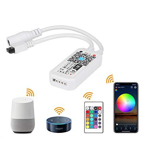Jayol Led Strip Wifi Kontroller für Alexa,App,Google Home, Fernbedienung Arbeiten Controller mit Android und IOS System 5V-28V Für alle 3528 5050 2835 led strip