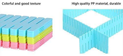 OSHOP® Adjustable Plastic Drawer Partition (Set of 12)