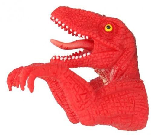 DinoWorld Dino Junior - Marioneta de dedo (7 x 5,5 cm), color rojo