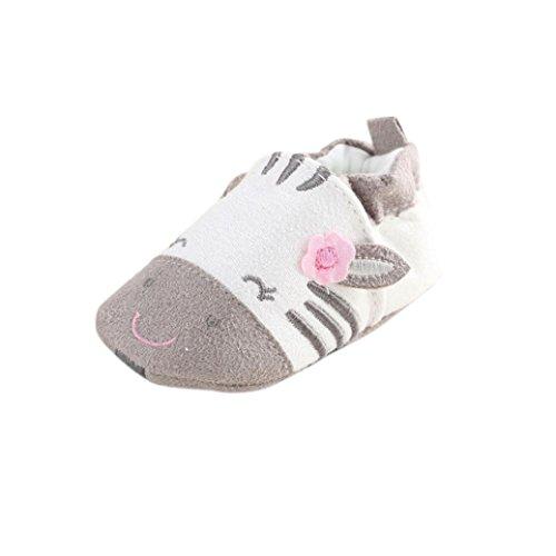 FNKDOR Baby Jungen Mädchen Lauflernschuhe rutschfest Haien Schuhe Stiefel (12-18 Monate, Kuh)